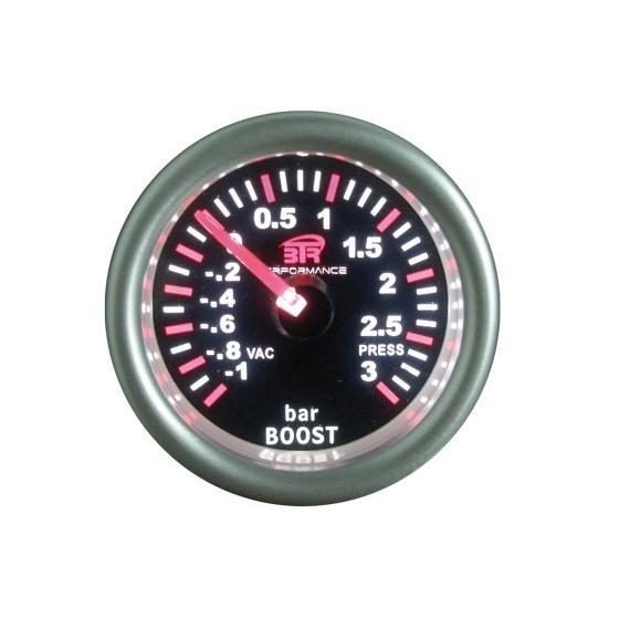 ACT-RELOJ300 Reloj de medición de la presión del turbo BTR negro