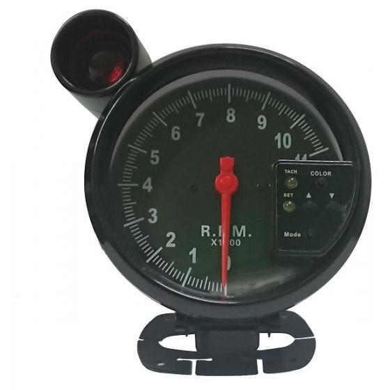ACT-RELOJ460 Reloj tacómetro CON avisador de luz roja GASOLINA BTR negro